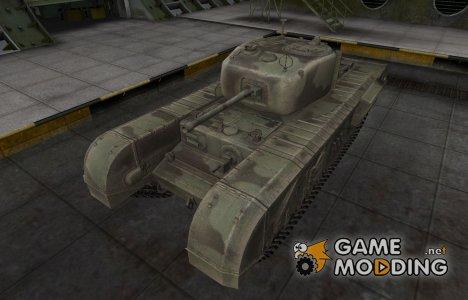 Пустынный скин для Churchill VII для World of Tanks