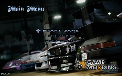 Need For Speed Menu для GTA San Andreas