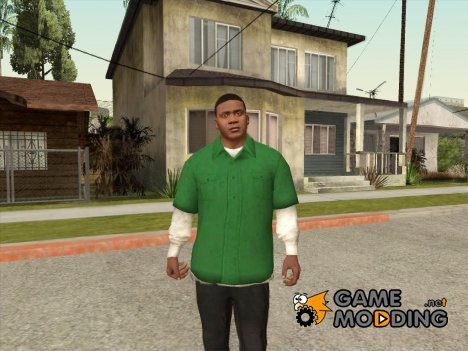 Franklin Green Shirt for GTA San Andreas