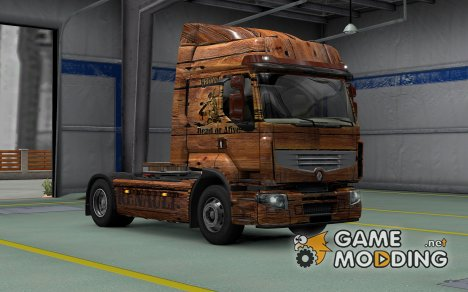 Скин Old Wood для Renault Premium для Euro Truck Simulator 2