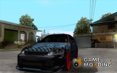 Honda Civic Carbon Latvian Skin для GTA San Andreas