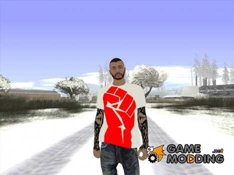 Skin GTA Online в футболке кулак for GTA San Andreas