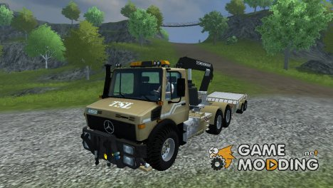 Mercedes-Benz Unimog crane devices Trailer для Farming Simulator 2013