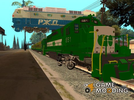 Пак поездов v.2 By Vone for GTA San Andreas