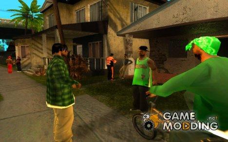 Оживленный Ganton для GTA San Andreas