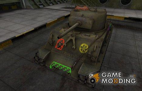 Качественные зоны пробития для M4A2E4 Sherman for World of Tanks