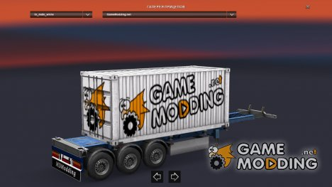 Mod GameModding trailer by Vexillum v.2.0 для Euro Truck Simulator 2