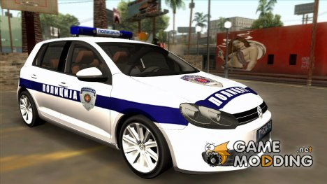 Volkswagen Golf Mk6 Policija for GTA San Andreas