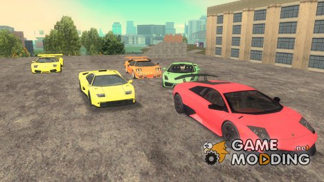 Пак машин Lamborghini for GTA 3