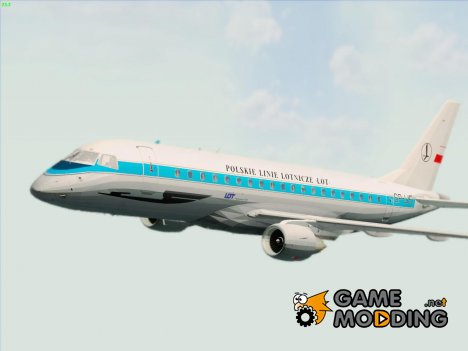 Embraer ERJ-175 LOT Polish Airlines - PLL LOT Retro Livery (SP-LIE) для GTA San Andreas