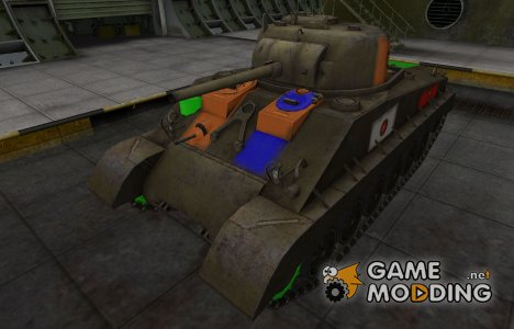 Качественный скин для M4A2E4 Sherman for World of Tanks