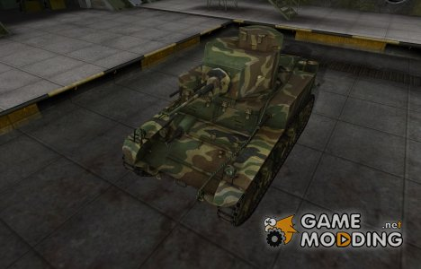 Скин для танка СССР М3 Стюарт для World of Tanks