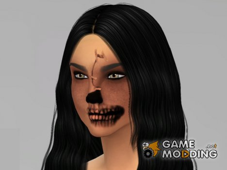 Halloween Skeleton Face Mask for Sims 4