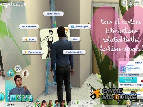 Новая карьера - Мода for Sims 4
