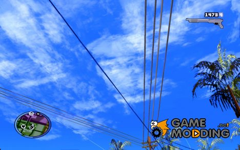 HUD и оружие из GTA IV for GTA San Andreas