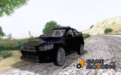 Mitsubishi Lancer Evolution X POLICE для GTA San Andreas