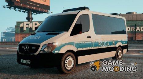 Polish Police Mercedes Sprinter (Polskiej Policji) для GTA 5