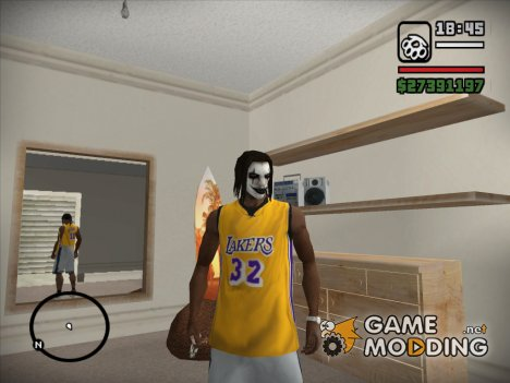 Футболка Lakers for GTA San Andreas