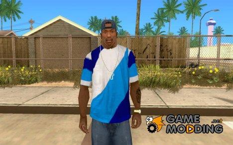 Сине-бело-голубая футболка for GTA San Andreas