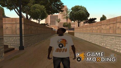 "Новогодняя футболка ""Gamemodding"" for GTA San Andreas"