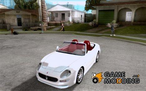 Maserati Spyder Cambiocorsa для GTA San Andreas
