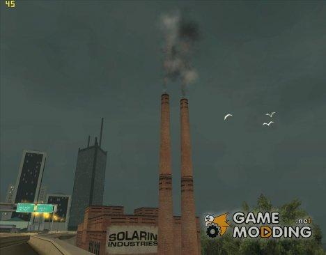 Дым из труб на заводе для GTA San Andreas