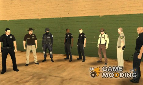 Police Skin Pack HD for GTA San Andreas
