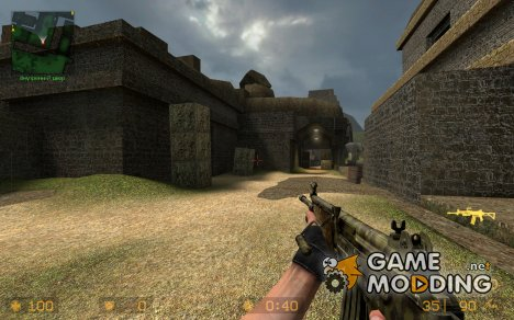 Jungle Camo Galil With Added Grip for Counter-Strike Source