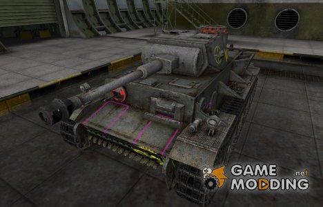 Контурные зоны пробития VK 36.01 (H) for World of Tanks