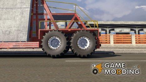 Внедорожные колёса для дефолтных прицепов для Euro Truck Simulator 2