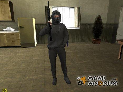 Skin HD GTA V online парень в маске для GTA San Andreas