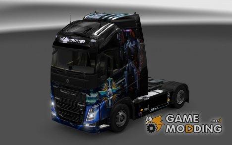 Скин We are Geth для Volvo FH16 2012 for Euro Truck Simulator 2