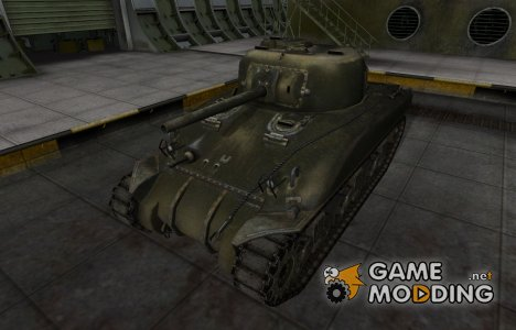 Шкурка для американского танка M4 Sherman for World of Tanks
