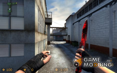 RedBlack Dragon Knife for Counter-Strike Source
