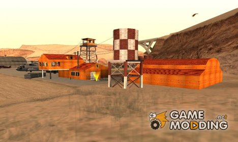 Desert airport house-Retextured для GTA San Andreas