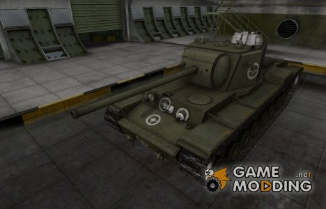 Зоны пробития контурные для КВ-4 для World of Tanks