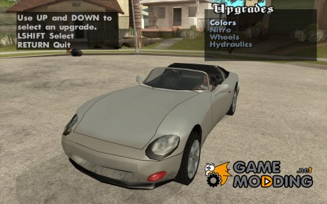 Тюнинг машины в любом месте for GTA San Andreas
