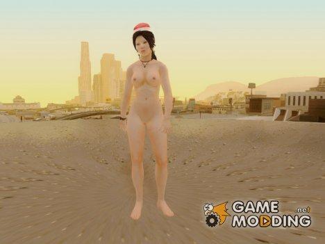Lara Xmas nude from Tomb Raider 2013 для GTA San Andreas