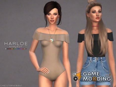 Harloe Bodysuit Set  Christopher067 для Sims 4