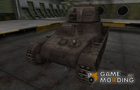 Перекрашенный французкий скин для Hotchkiss H35 для World of Tanks