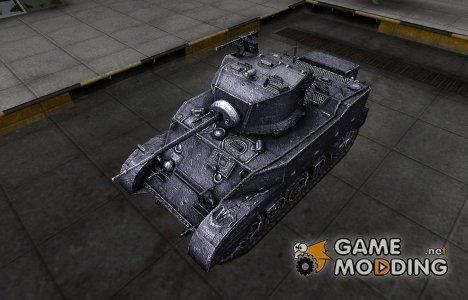 Темный скин для M5 Stuart для World of Tanks