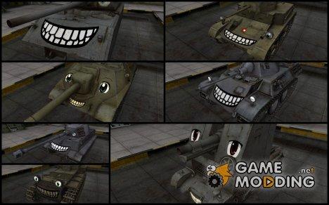Пак скинов с улыбками для World of Tanks