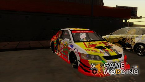 Mitsubishi Lancer Evo IX - K-ON Itasha for GTA San Andreas