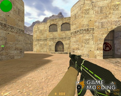 AK-47 - Green Force для Counter-Strike 1.6