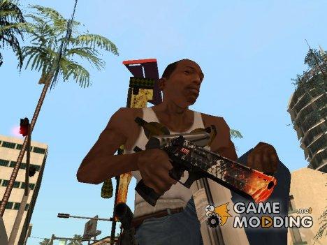 Пак оружия с расцветкой for GTA San Andreas