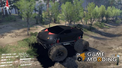 Lamborghini Sesto Elemento Monster Truck for Spintires 2014