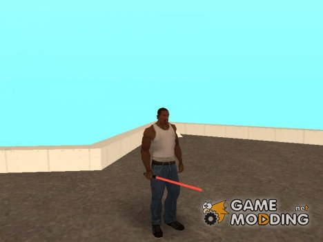 Красный световой меч for GTA San Andreas
