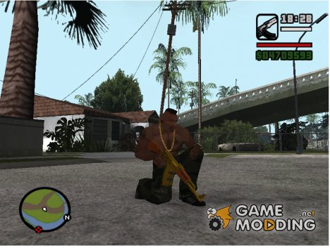 Gold Guns Pack for GTA San Andreas