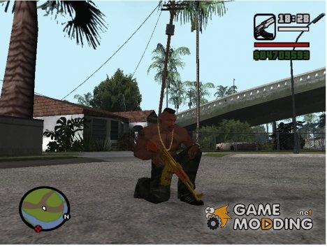 Gold Guns Pack for GTA San Andreas