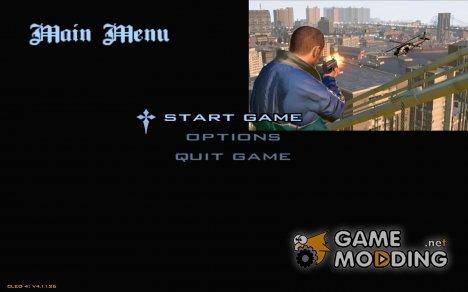 Меню в стиле GTA 4 для GTA San Andreas